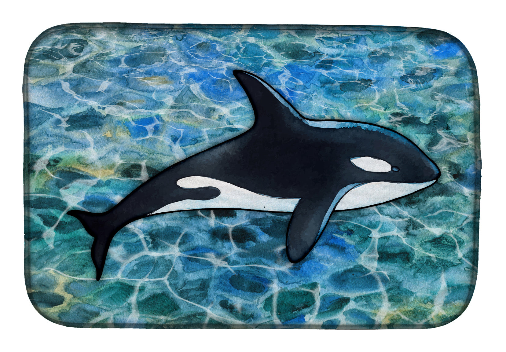 Buy this Killer Whale Orca Dish Drying Mat BB5348DDM