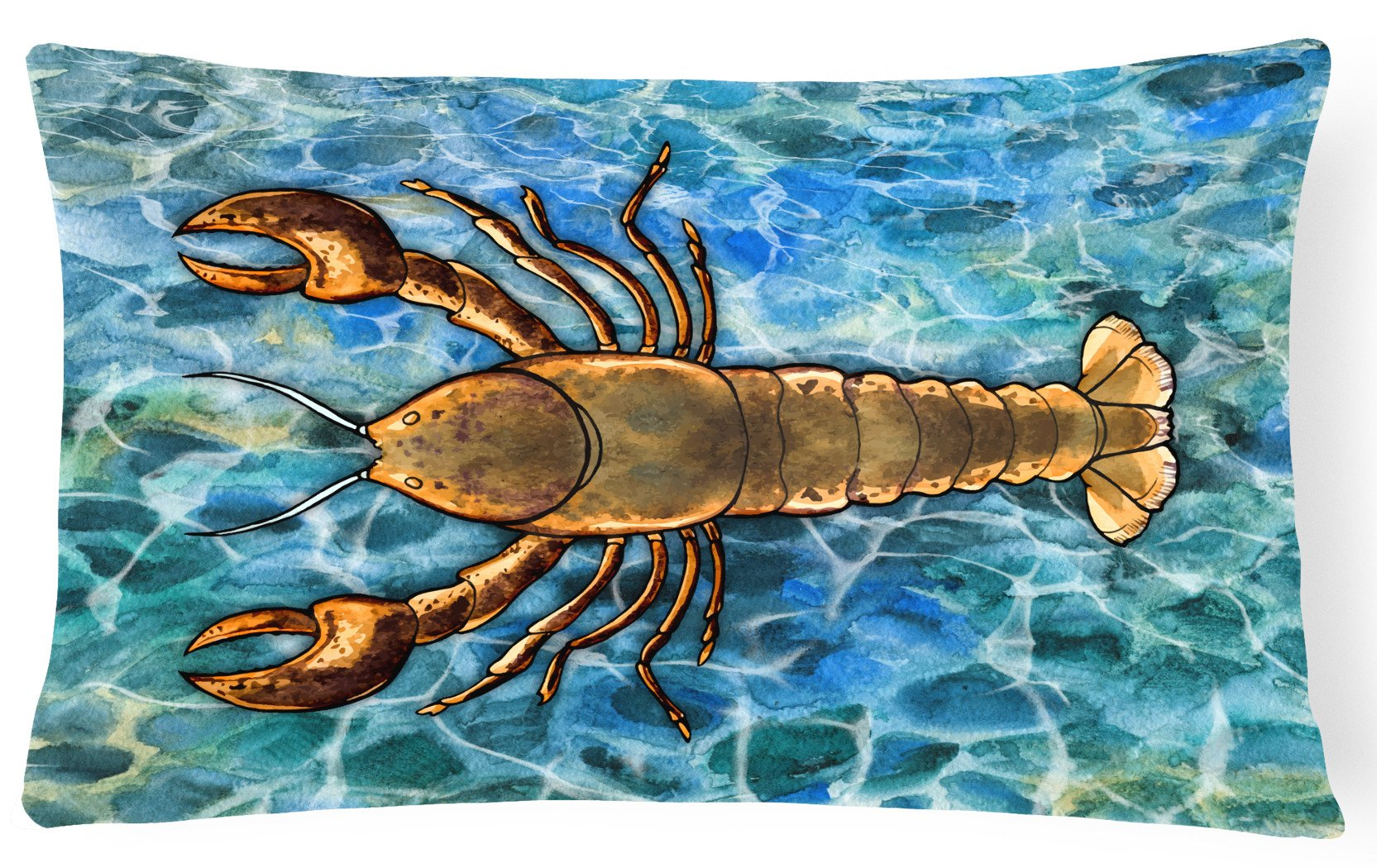 Lobster Canvas Fabric Decorative Pillow BB5351PW1216 by Caroline's Treasures