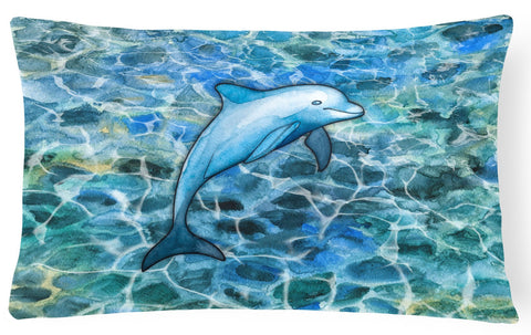 Buy this Dolphin Canvas Fabric Decorative Pillow BB5356PW1216