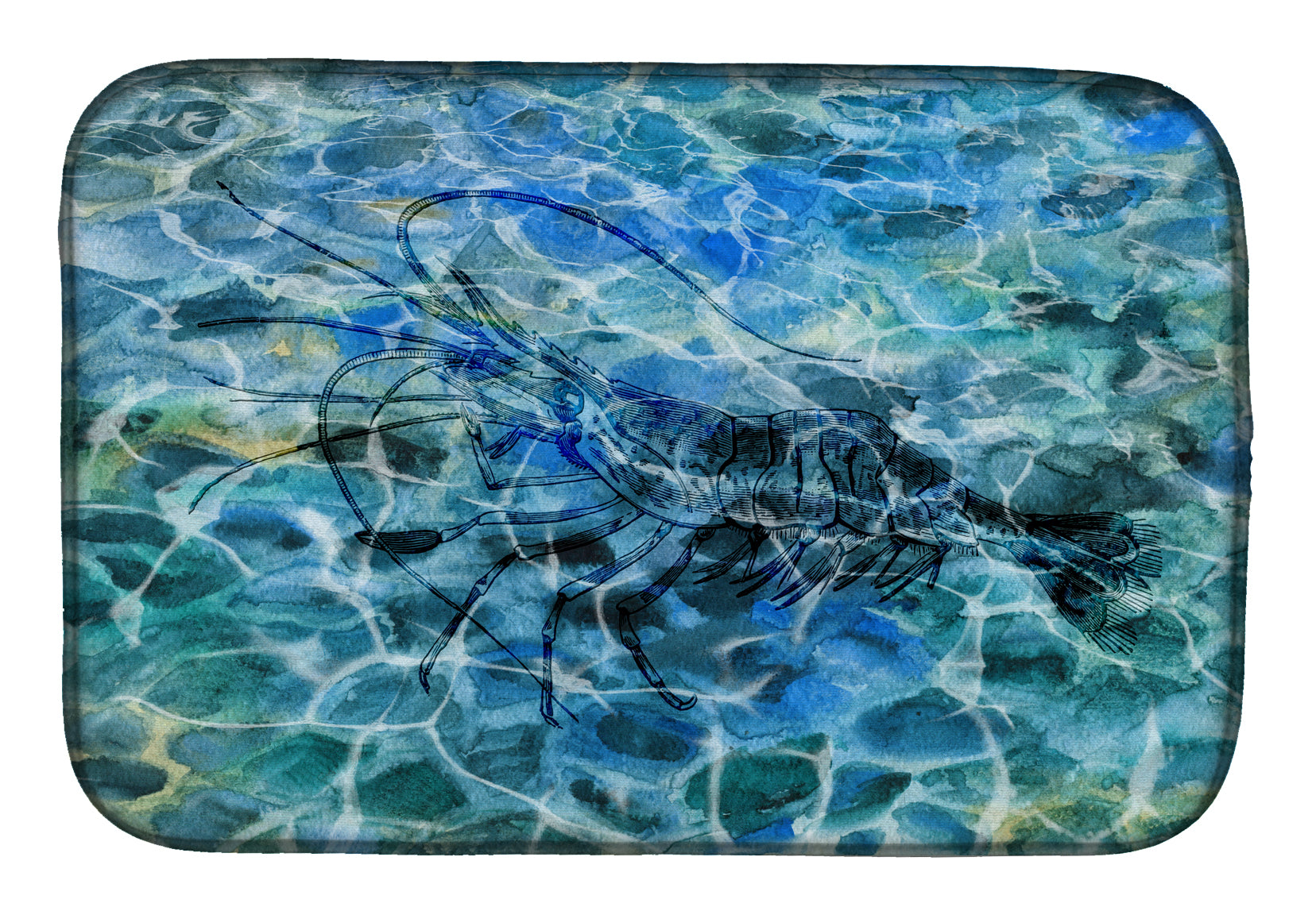 Shrimp Under water Dish Drying Mat BB5359DDM by Caroline's Treasures