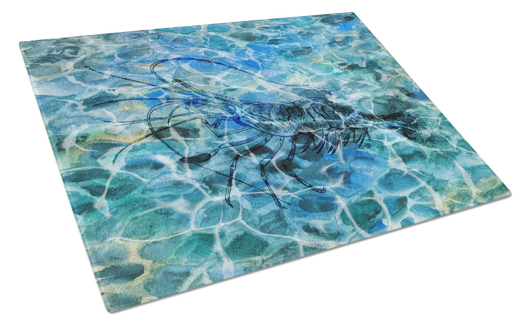 Shrimp Under water Glass Cutting Board Large BB5359LCB by Caroline's Treasures
