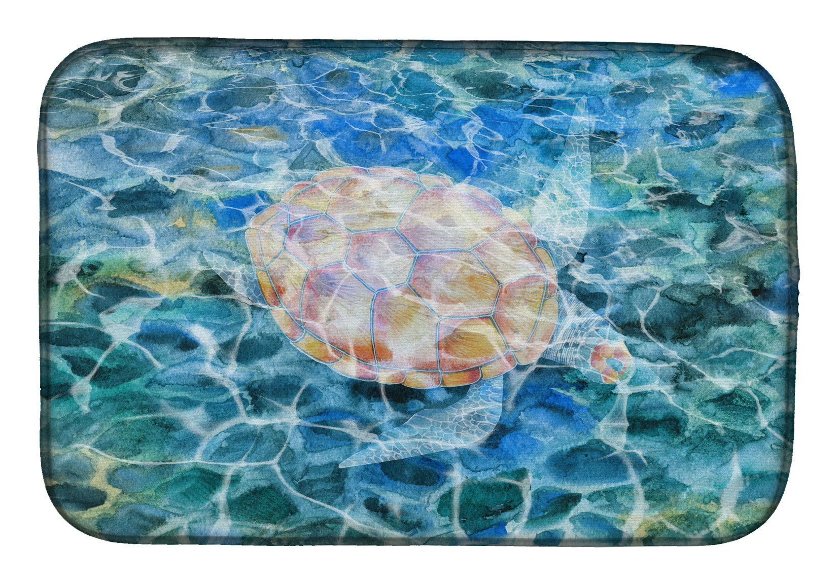 Buy this Sea Turtle Under water Dish Drying Mat BB5363DDM