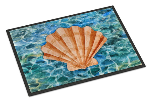 Buy this Scallop Shell and Water Indoor or Outdoor Mat 24x36 BB5367JMAT