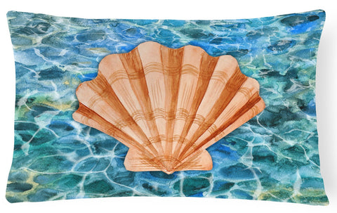Buy this Scallop Shell and Water Canvas Fabric Decorative Pillow BB5367PW1216