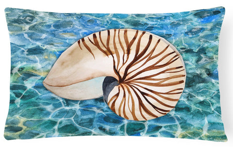 Buy this Sea Shell and Water Canvas Fabric Decorative Pillow BB5368PW1216