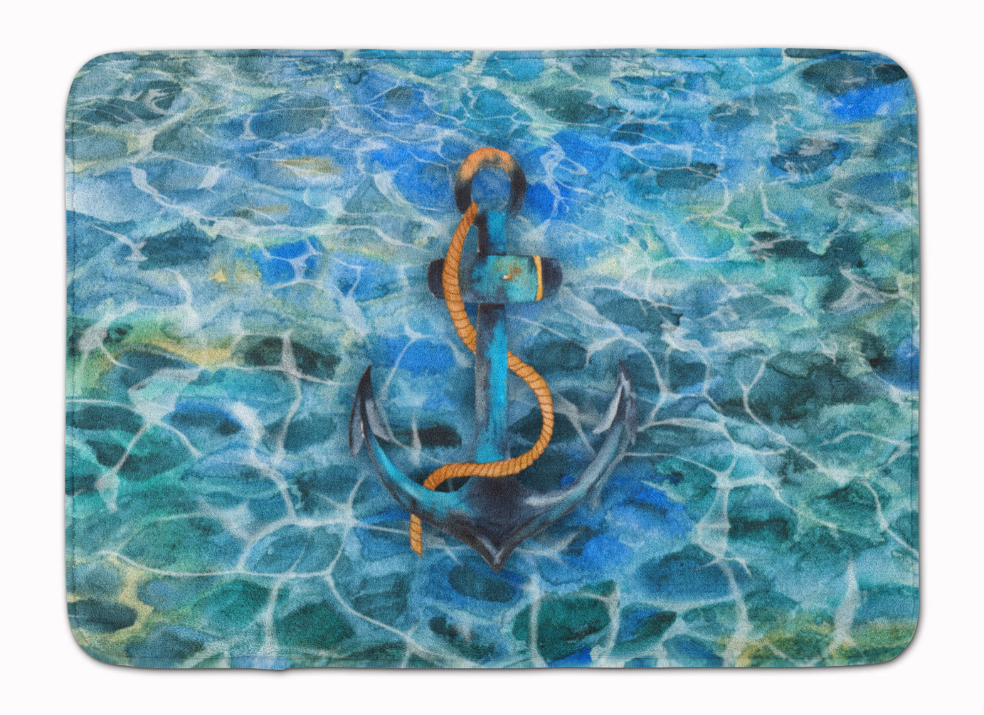 Anchor and Rope Machine Washable Memory Foam Mat BB5370RUG by Caroline's Treasures