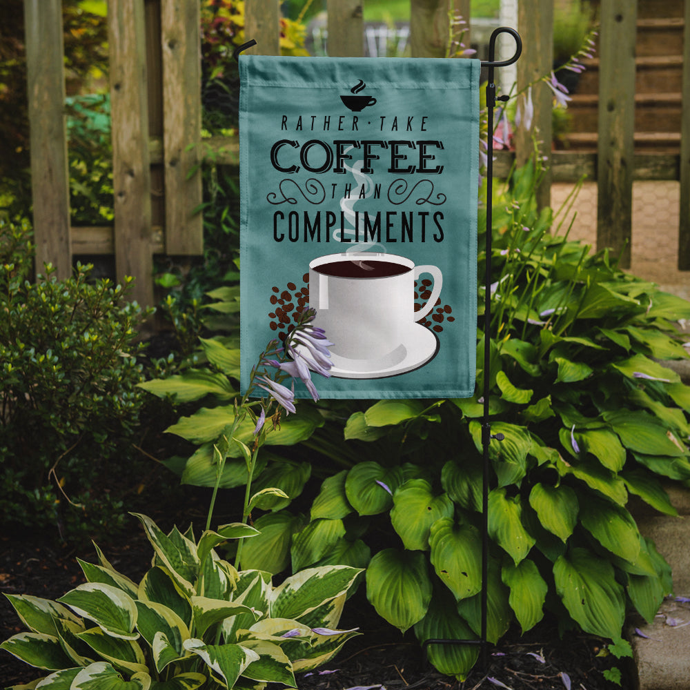 Buy this Rather have Coffee Sign Flag Garden Size BB5402GF