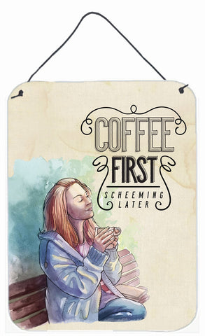 Buy this Coffee First Sign Wall or Door Hanging Prints BB5403DS1216