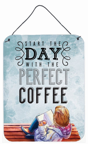 Buy this Start the Day Coffee Sign Wall or Door Hanging Prints BB5404DS1216