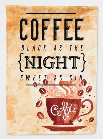 Buy this Black Coffee Sign Flag Garden Size BB5405GF