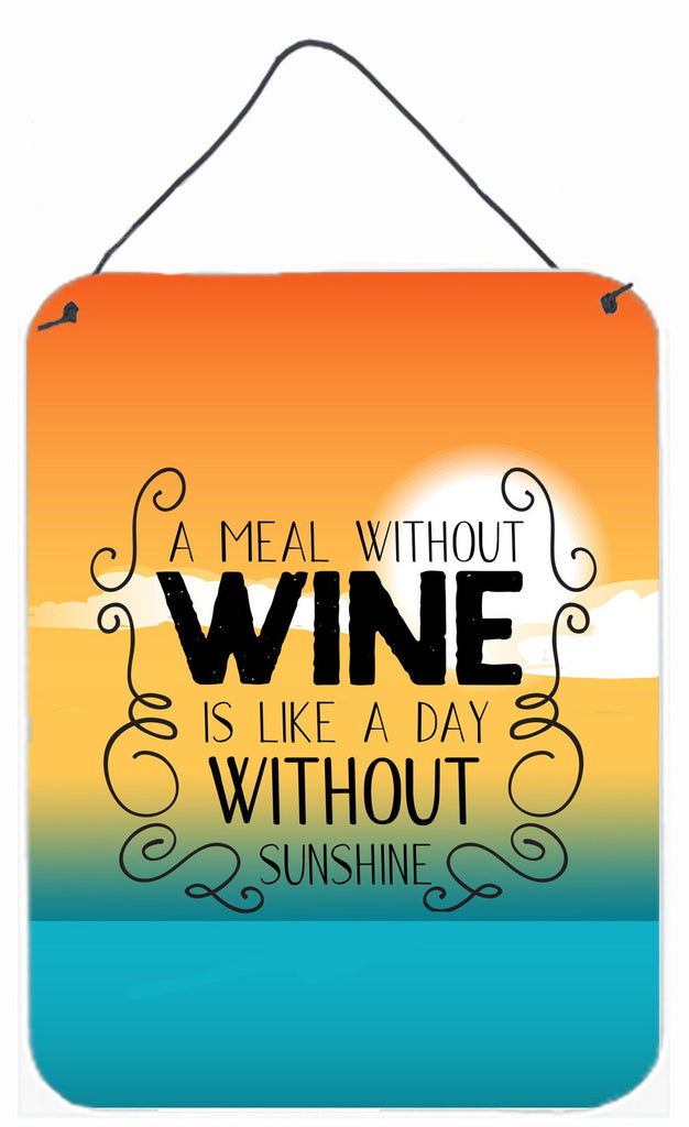 Buy this A Meal without Wine Sign Wall or Door Hanging Prints BB5407DS1216