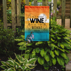 A Meal without Wine Sign Flag Garden Size BB5407GF