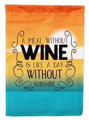 Buy this A Meal without Wine Sign Flag Garden Size BB5407GF