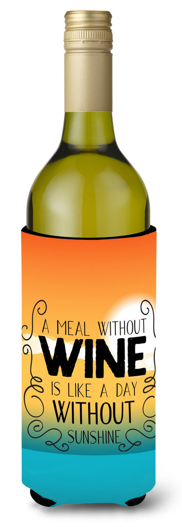 Buy this A Meal without Wine Sign Wine Bottle Beverge Insulator Hugger BB5407LITERK