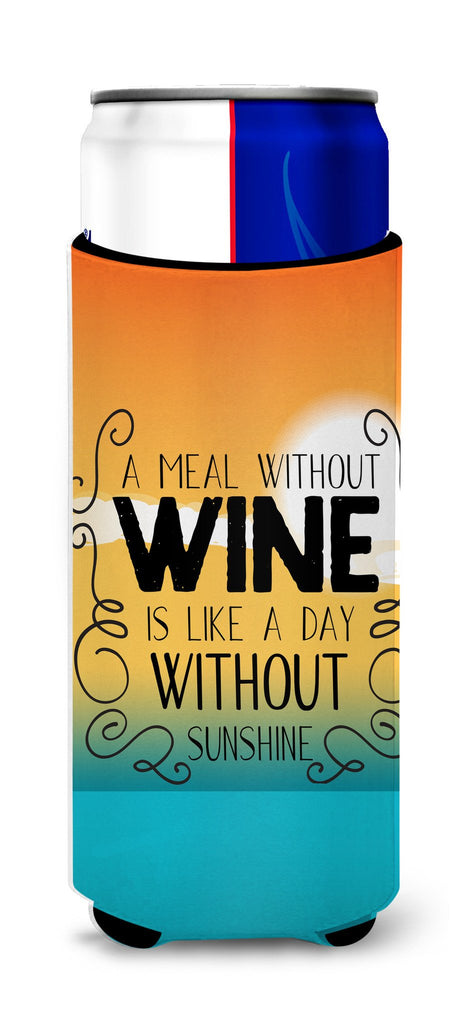 Buy this A Meal without Wine Sign Michelob Ultra Hugger for slim cans BB5407MUK