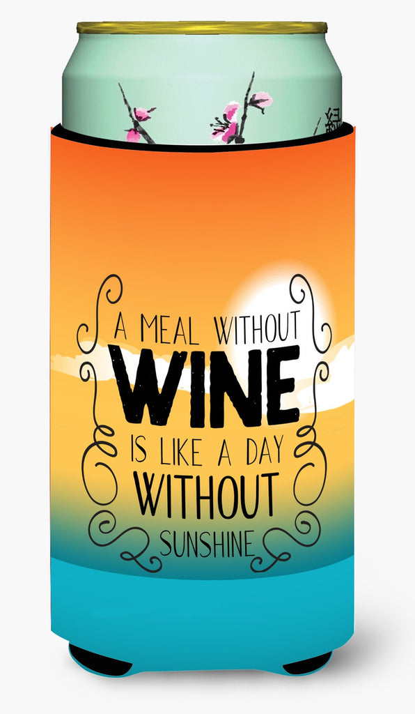 Buy this A Meal without Wine Sign Tall Boy Beverage Insulator Hugger BB5407TBC