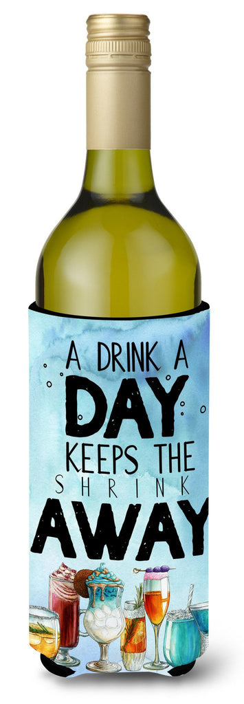 Buy this A Drink a Day Sign Wine Bottle Beverge Insulator Hugger BB5410LITERK