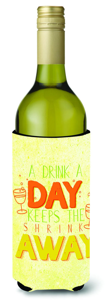 Buy this A Drink a Day Wine Bottle Beverge Insulator Hugger BB5422LITERK
