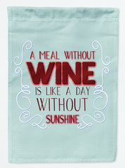 Buy this A Meal Without Wine Flag Garden Size BB5424GF
