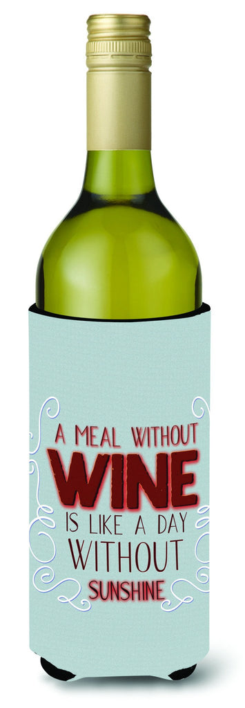 Buy this A Meal Without Wine Wine Bottle Beverge Insulator Hugger BB5424LITERK