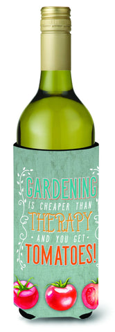 Buy this Gardening Therapy and Tomatoes Wine Bottle Beverge Insulator Hugger BB5432LITERK