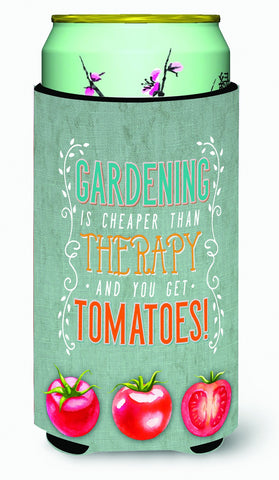 Buy this Gardening Therapy and Tomatoes Tall Boy Beverage Insulator Hugger BB5432TBC