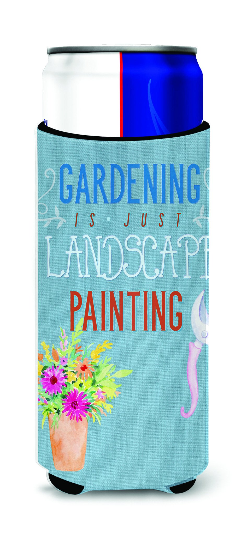 Gardening is Landscape Painting Michelob Ultra Hugger for slim cans BB5434MUK by Caroline's Treasures