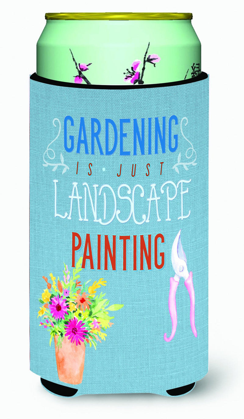 Buy this Gardening is Landscape Painting Tall Boy Beverage Insulator Hugger BB5434TBC