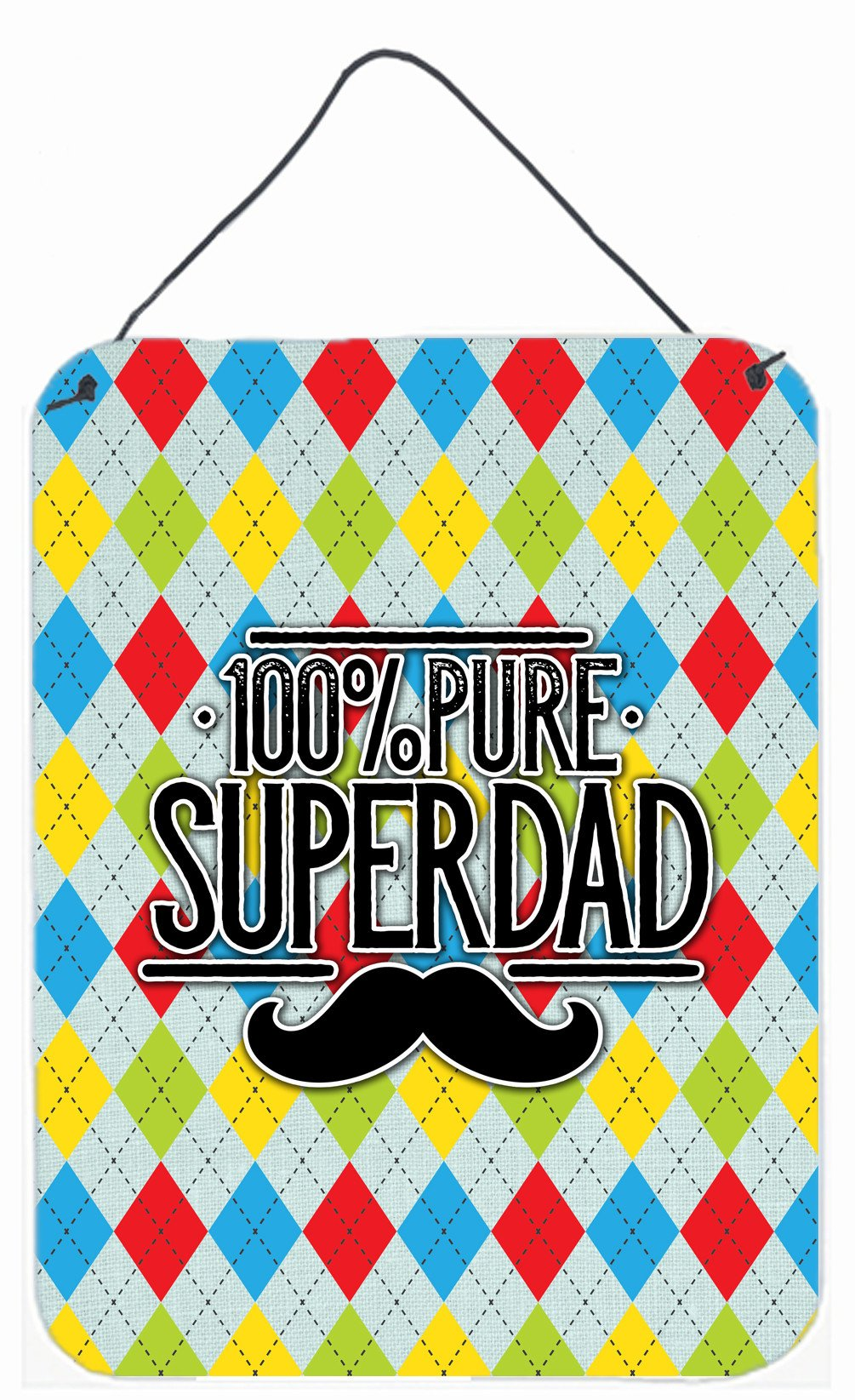 100% Pure Dad Argyle Wall or Door Hanging Prints BB5440DS1216 by Caroline's Treasures