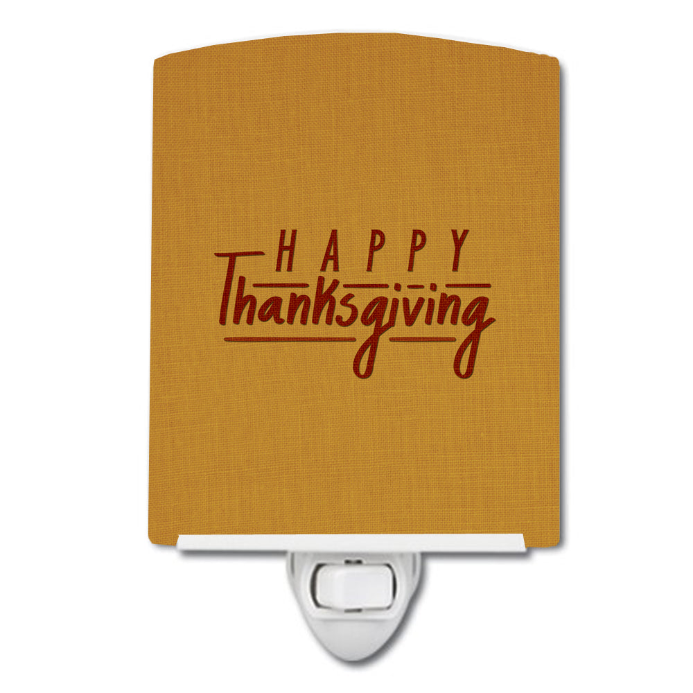 Happy Thanksgiving Ceramic Night Light BB5468CNL by Caroline's Treasures