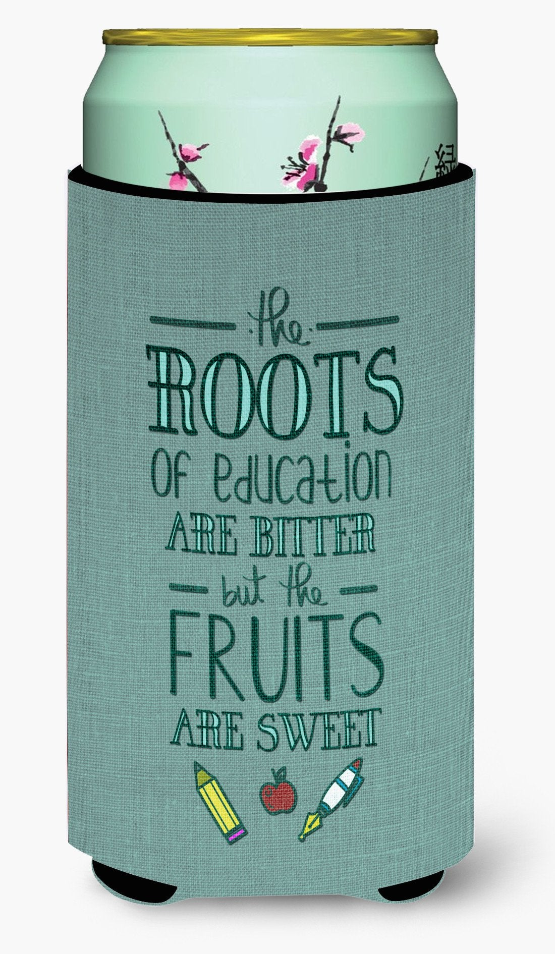 Buy this Education Fruits are Sweet Teacher Tall Boy Beverage Insulator Hugger BB5474TBC