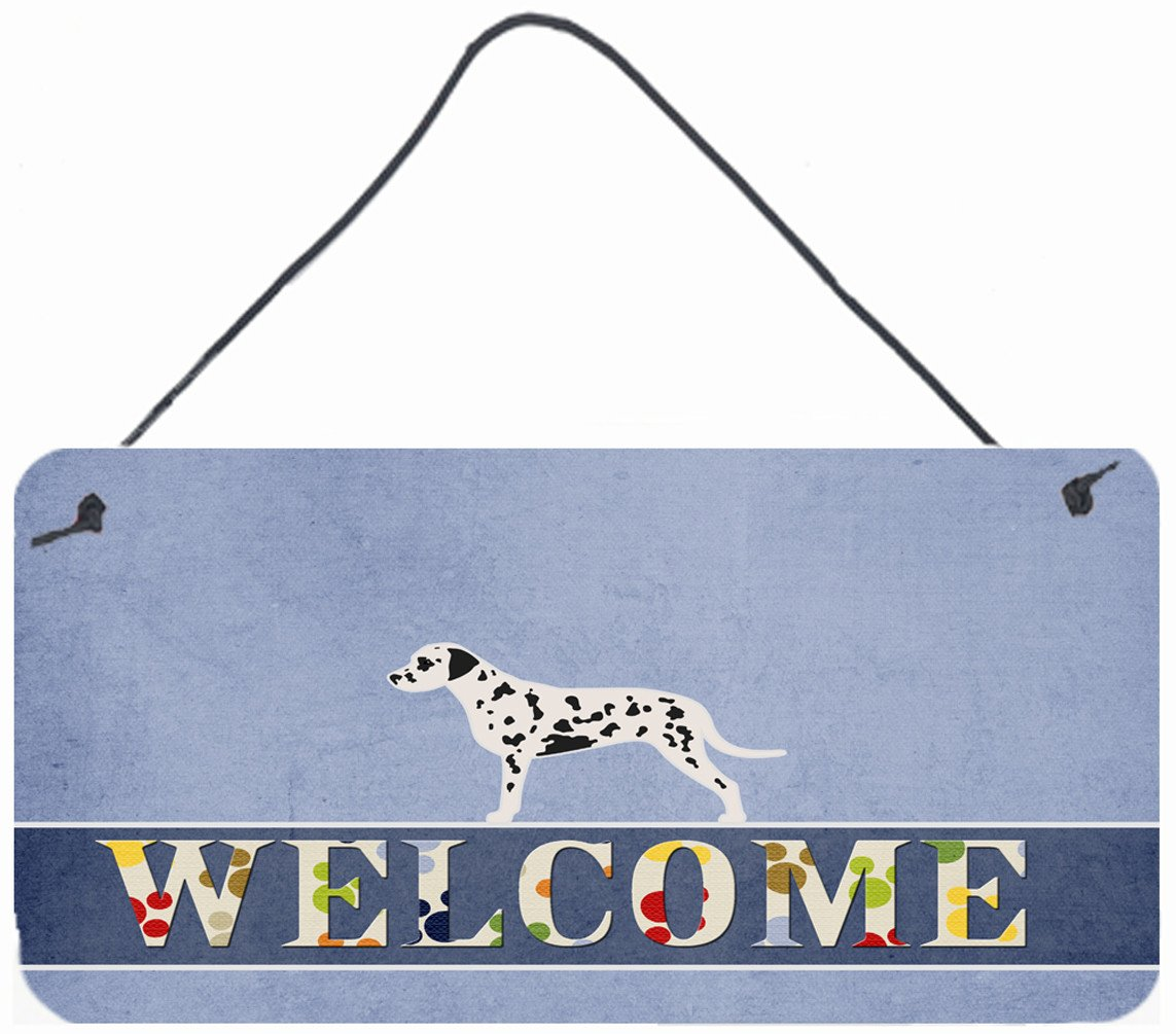 Dalmatian Welcome Wall or Door Hanging Prints BB5487DS812 by Caroline's Treasures