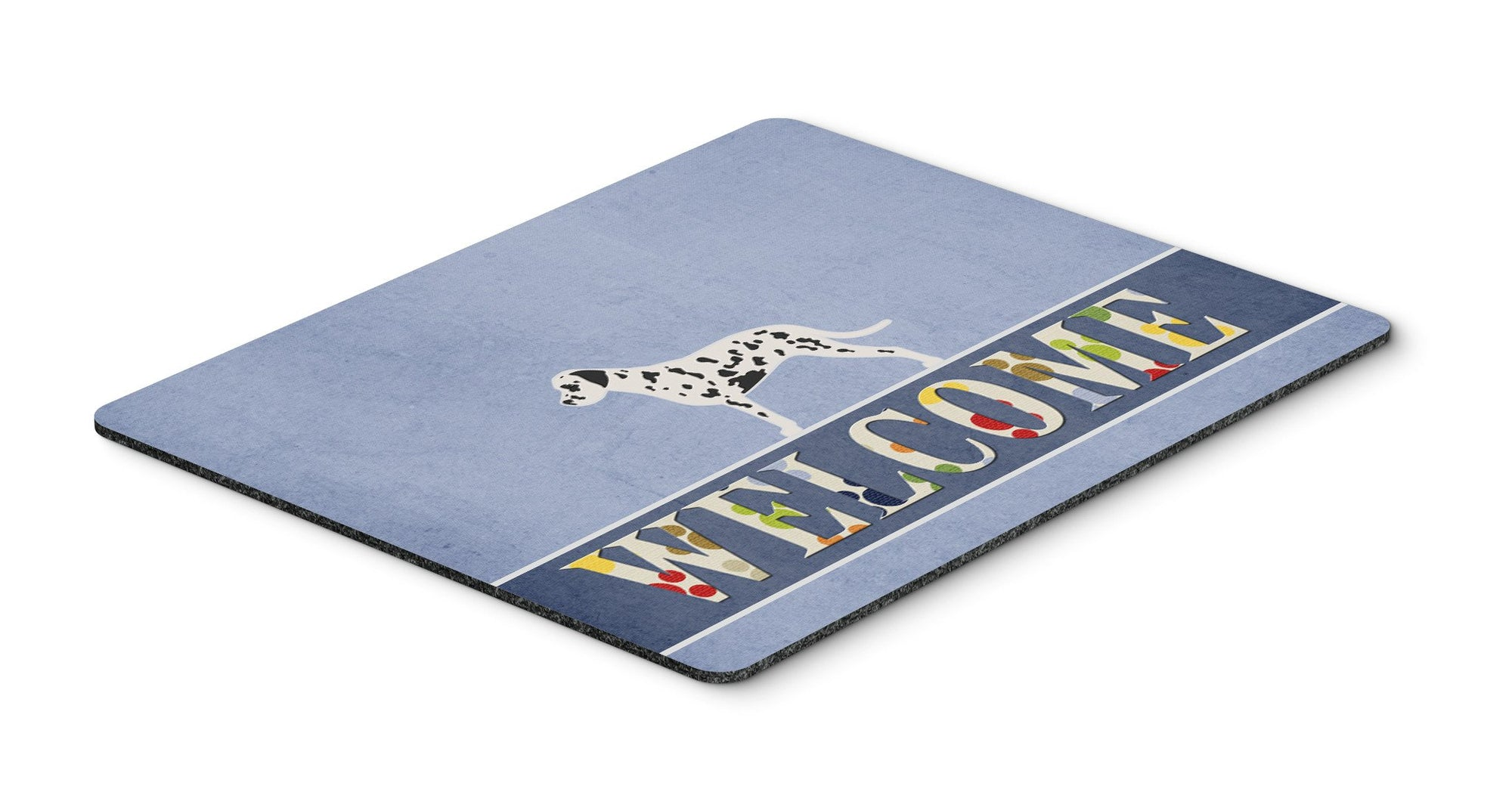 Dalmatian Welcome Mouse Pad, Hot Pad or Trivet BB5487MP by Caroline's Treasures