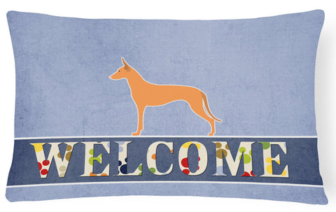 Buy this Pharaoh Hound Welcome Canvas Fabric Decorative Pillow BB5492PW1216