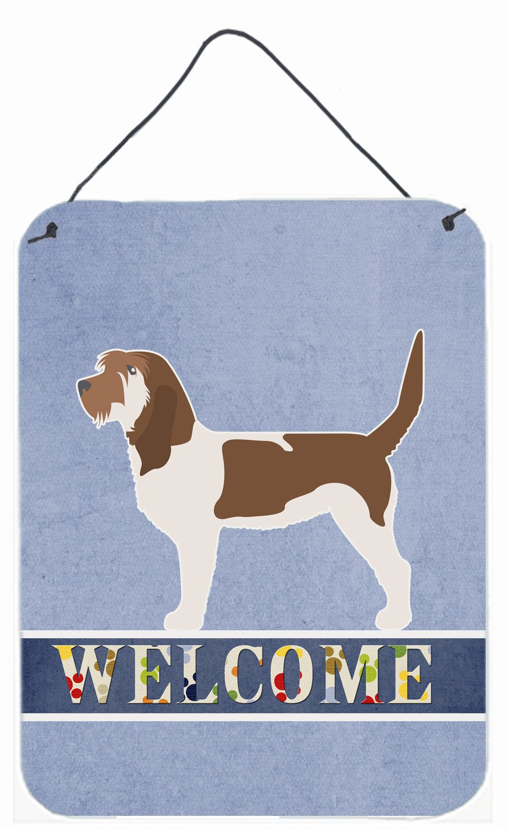 Grand Basset Griffon Vendeen Welcome Wall or Door Hanging Prints BB5494DS1216 by Caroline's Treasures