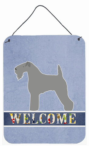 Buy this Kerry Blue Terrier Welcome Wall or Door Hanging Prints BB5496DS1216