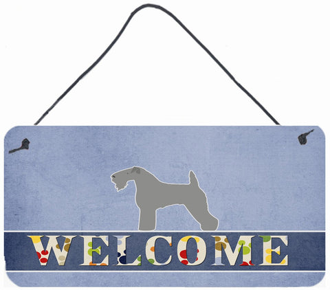 Buy this Kerry Blue Terrier Welcome Wall or Door Hanging Prints BB5496DS812
