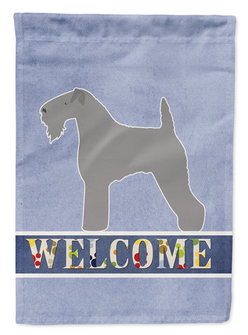 Buy this Kerry Blue Terrier Welcome Flag Garden Size BB5496GF