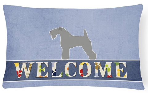 Buy this Kerry Blue Terrier Welcome Canvas Fabric Decorative Pillow BB5496PW1216
