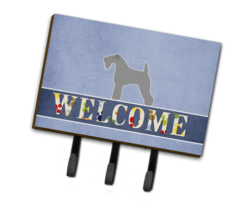 Buy this Kerry Blue Terrier Welcome Leash or Key Holder BB5496TH68