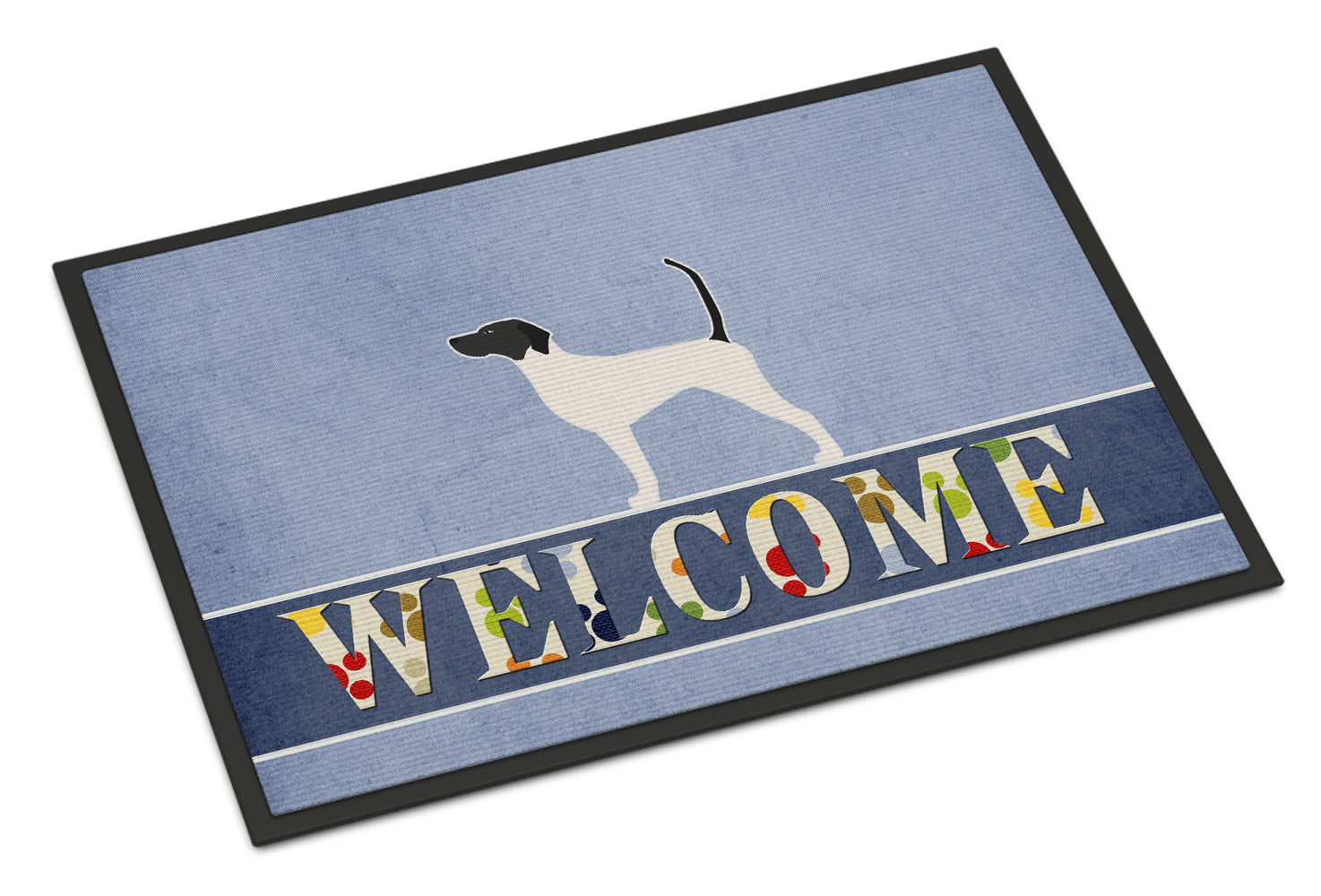 English Pointer Welcome Indoor or Outdoor Mat 18x27 BB5499MAT by Caroline's Treasures