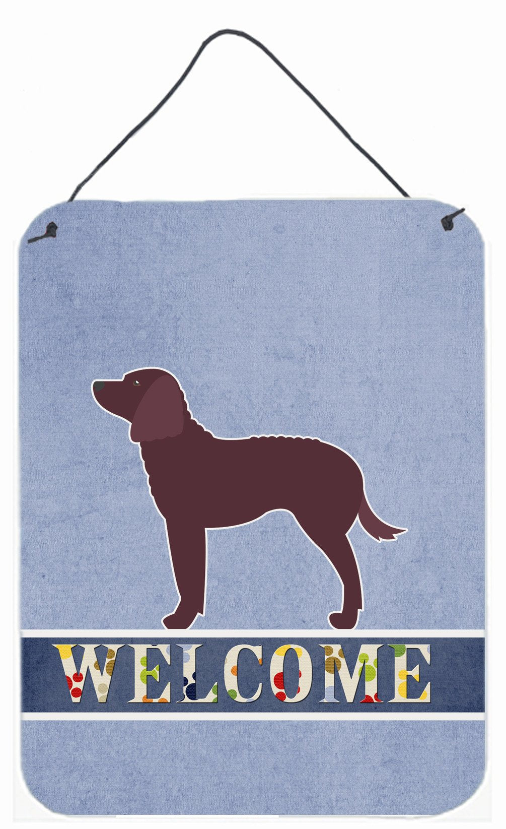 American Water Spaniel Welcome Wall or Door Hanging Prints BB5505DS1216 by Caroline's Treasures