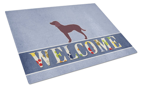 Buy this American Water Spaniel Welcome Glass Cutting Board Large BB5505LCB