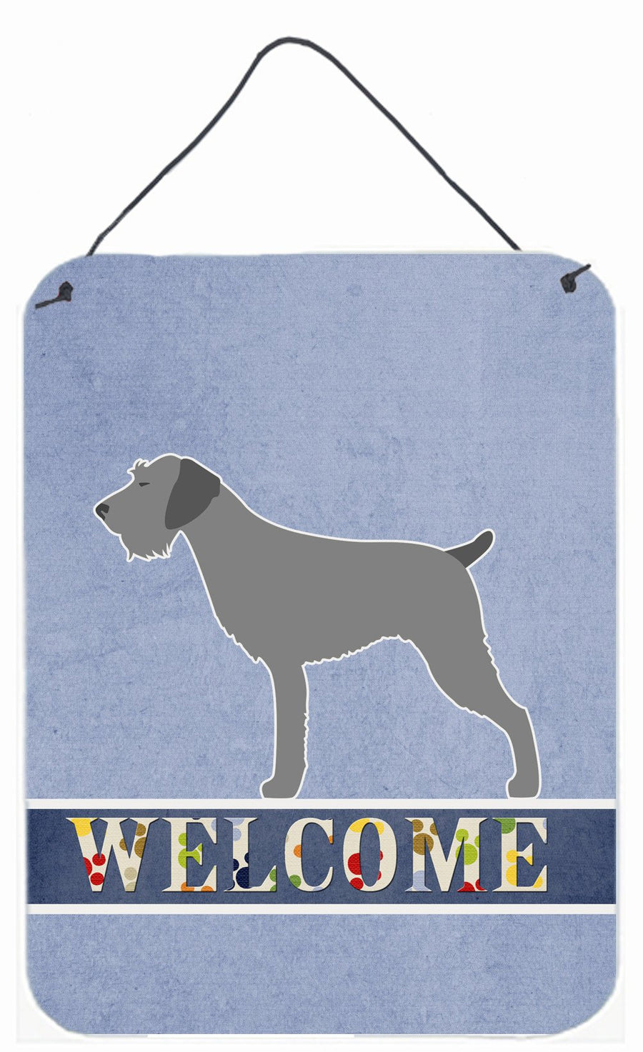 Buy this German Wirehaired Pointer Welcome Wall or Door Hanging Prints BB5515DS1216