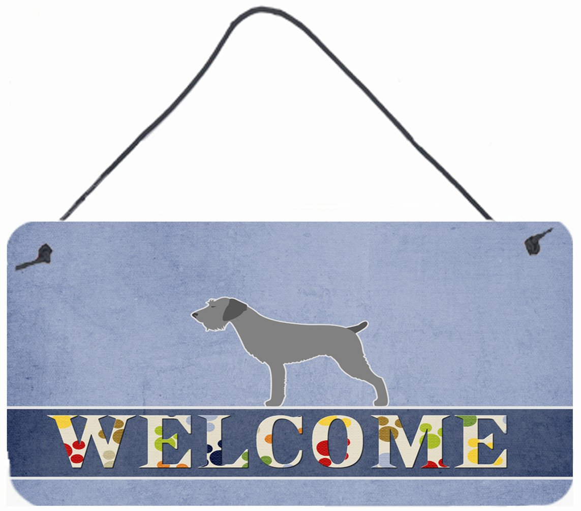 Buy this German Wirehaired Pointer Welcome Wall or Door Hanging Prints BB5515DS812