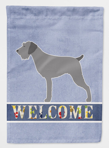 Buy this German Wirehaired Pointer Welcome Flag Garden Size BB5515GF