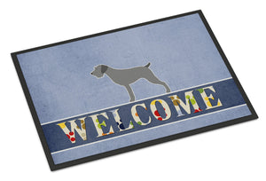 Buy this German Wirehaired Pointer Welcome Indoor or Outdoor Mat 24x36 BB5515JMAT