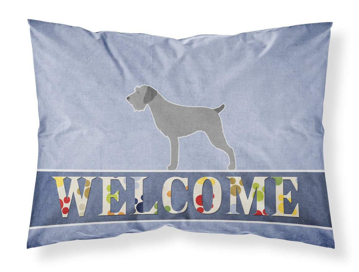 Buy this German Wirehaired Pointer Welcome Fabric Standard Pillowcase BB5515PILLOWCASE