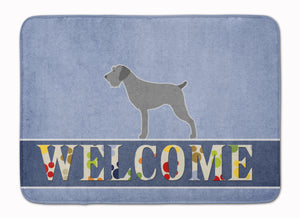 Buy this German Wirehaired Pointer Welcome Machine Washable Memory Foam Mat BB5515RUG