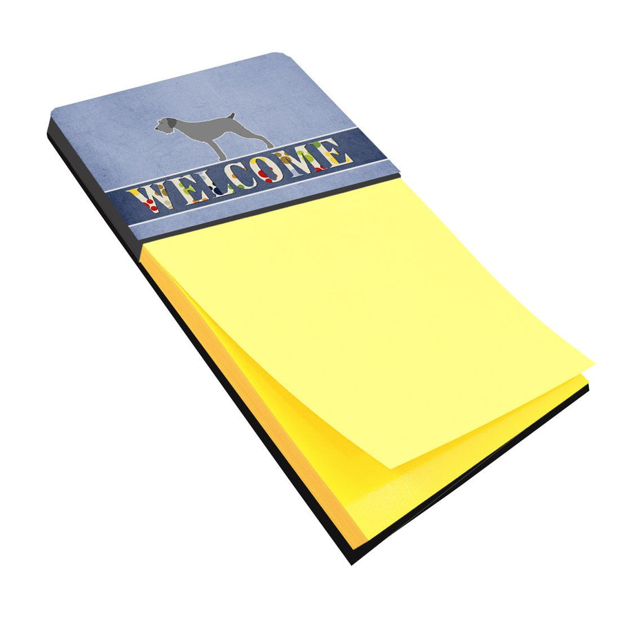Buy this German Wirehaired Pointer Welcome Sticky Note Holder BB5515SN